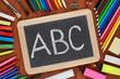 ABC auf einer Tafel