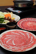 すき焼き : Sukiyaki Fresh Beef pork slices, Vegetable, Dinner Set