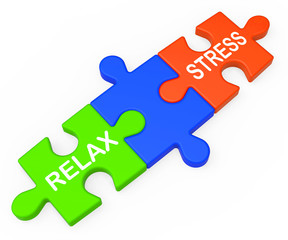 Stress Relax Shows Pressure Work Or Relaxation