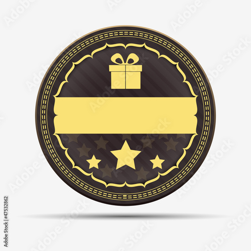 Retro gift badge