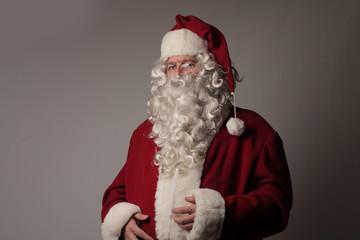 Serious Santa Looking at your conscience