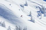 Fototapety Skifahrer im Winterwunderland