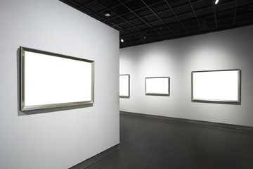 empty frames in museum