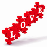 Fototapety Love Puzzle Showing Couples In Love