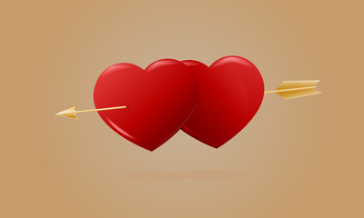 Heart and arrow Amur