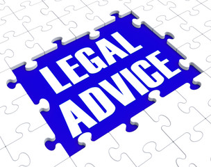 Legal Advice Puzzle Showing Attorney Counseling