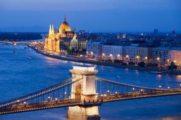Budapest Cityscape at Night