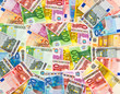 euro currency banknotes money background