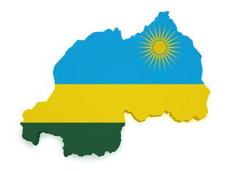 Rwanda Map 3d Shape