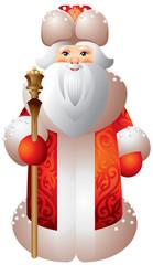Ded Moroz Russian Matryoshka style
