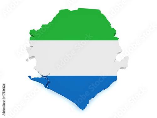 Sierra Leone Map 3d Shape
