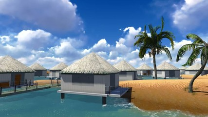 Holiday resort in tropical paradise