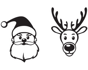 Santa and deer face