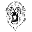Isolated lion head as a symbol, sign, emblem