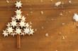 Zimtsterne Weihnachten Hintergrund Grußkarte