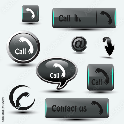 contact, call buttons - phone symbols
