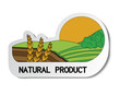 natural sticker, paper nature label