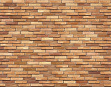 Fototapety Brick wall seamless Vector illustration background - texture