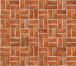 Red brick wall seamless Vector illustration background - texture