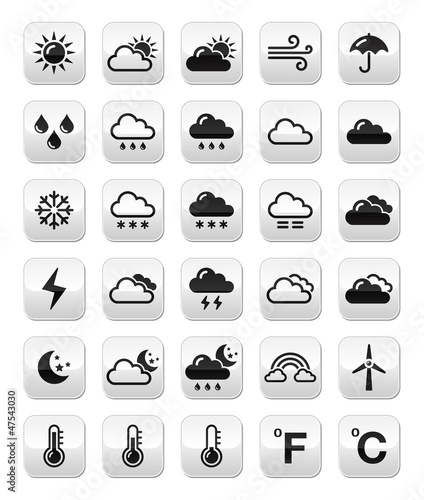 Weather forecast buttons set