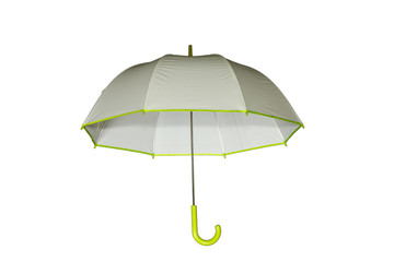 White umbrella with green dots isolated over white