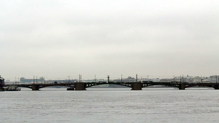 General view of the Birzhevoy Bridge (Exchange Bridge)