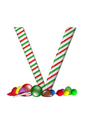Alphabet Candy Cane Sweets V
