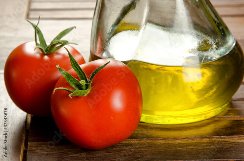 Tomatoes and extra virgen olive oil