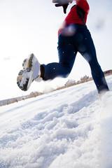 Runner in winter