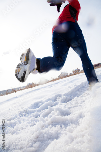 Runner in winter