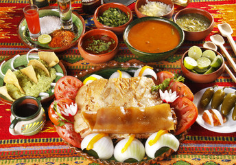 Carnitas estilo Michoacán. Comida mexicana