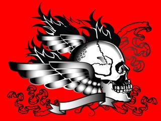 human skull tattoo