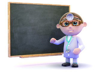 Doctor in front of a blackboard