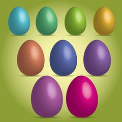 3D vector Easter eggs
