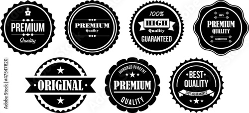 Vintage Premium Quality Labels and Stamps - 47547820