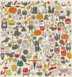 Big Halloween Collection of small  illustrations (icons)