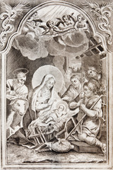 Nativity. Lithography in Missale romanum 1833.