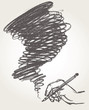 Pencil drawing. Vector illustration. Hand-drawn