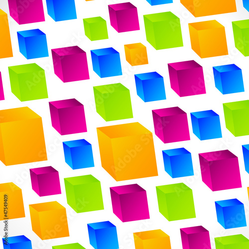 3D Abstract Square background