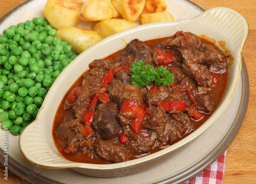 Beef Goulash with Vegetables Dinner