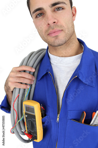 Electrician ready to work