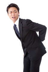 businessman suffering from low back pain