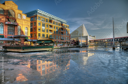 Icey Inner Harbor Baltimore - 47551200