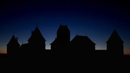 Lithuania Trakai castle sunrise
