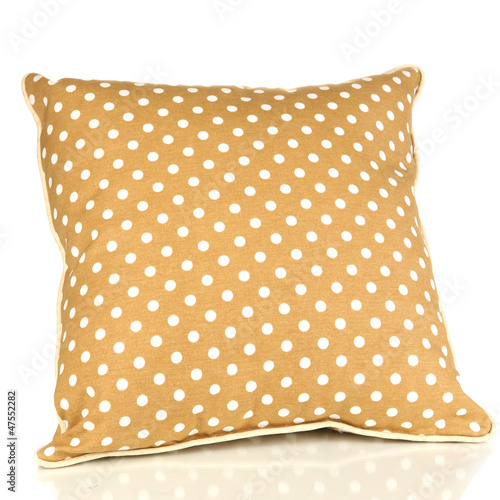 Brown bright pillow isolated on white - 47552282