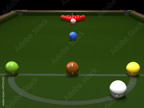 Colored balls for billiards