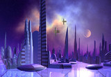 Alien City - Computer Artwork