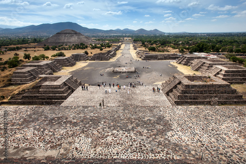 Fotobehang Centraal-Amerika Landen Teotihuacan, Mexico