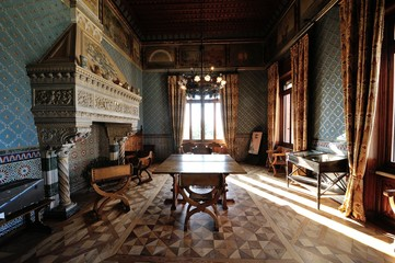 Sala interna al castello D'Albertis