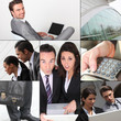 Montage of business images